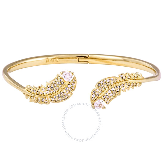 Swarovski Gold-tone Plated Nice Bangle- Size M