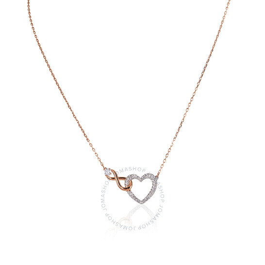 Swarovski Infinity Heart Necklace, White, Mixed Metal Finish   Joma Shop