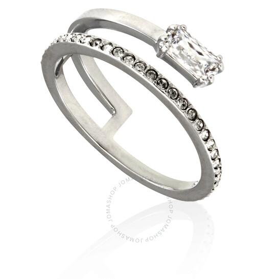 Swarovski Ladies Rhodium Grey Ring Size 58   Joma Shop