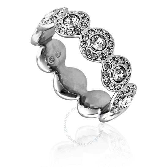 Swarovski Ladies Rhodium Plated White Angelic Ring, Brand Size 55 | Joma Shop