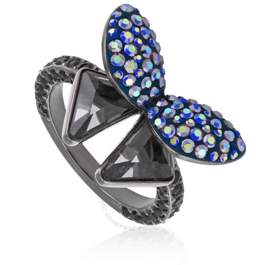 Swarovski Ladies Ruthenium Plated Ring   Joma Shop