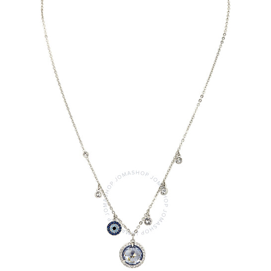 Swarovski Lucy Round Rhodium-Plated Necklace   Joma Shop