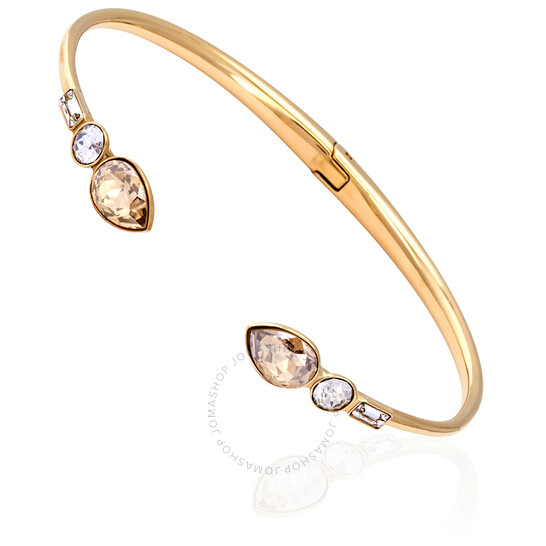 Swarovski Mix and Match Gold-tone Bangle - Size Medium