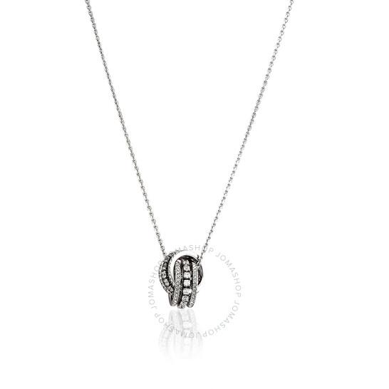 Swarovski Rhodium Plated Further Pendant Necklace   Joma Shop