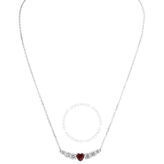 Swarovski Rhodium-Plated Love Necklace | Joma Shop