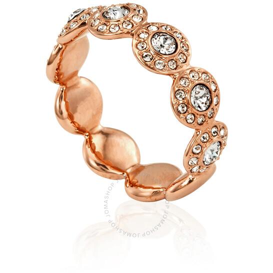 Swarovski Rose Gold Plated Angelic Band Ring Size- 7/M   Joma Shop