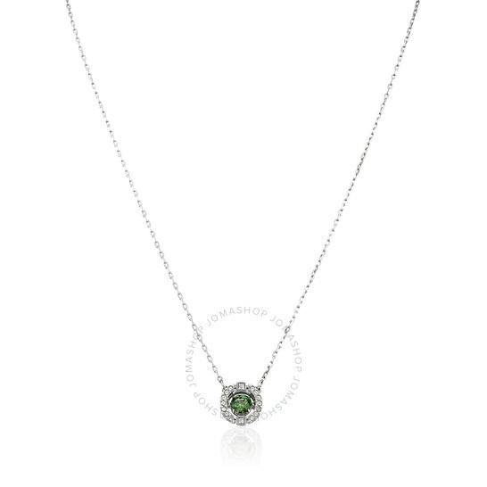 Swarovski Sparkling Dance Necklace, Green, Rhodium Plated | Joma Shop