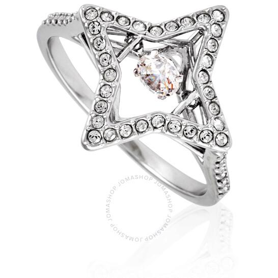 Swarovski Sparkling Dance Star Ring White Rhodium Plated Size 55 (US 7/M)