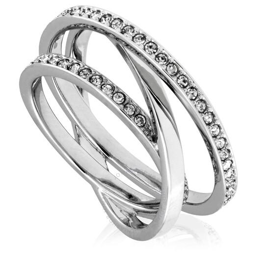 Swarovski Spiral Ladies Rhodium Plated Ring Size 50 (US 4.75)   Joma Shop