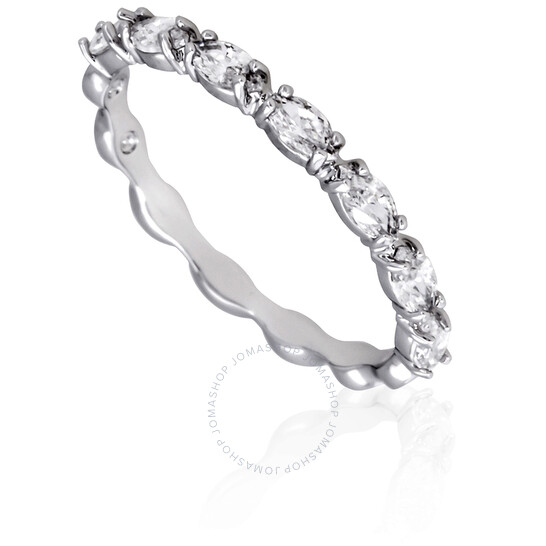 Swarovski Vittore Marquise Rhodium Plated Ring- Size 52   Joma Shop