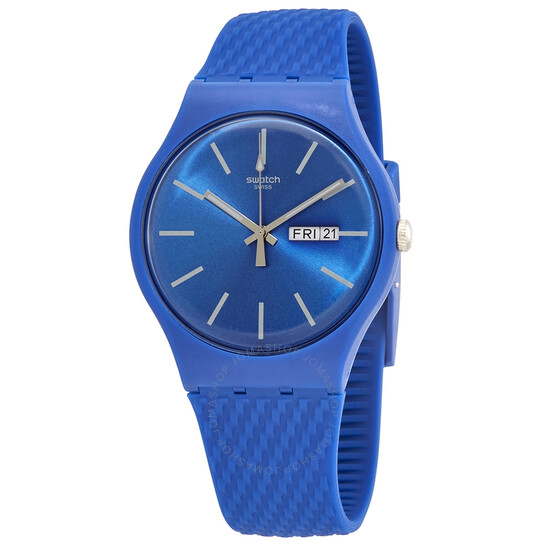 Swatch Bricablue Quartz Blue Dial Men's Watch SUON711 | Joma Shop