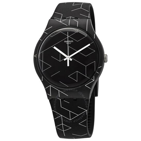 Swatch Cnosso Quartz Black Dial Unisex Watch SUOB161   Joma Shop