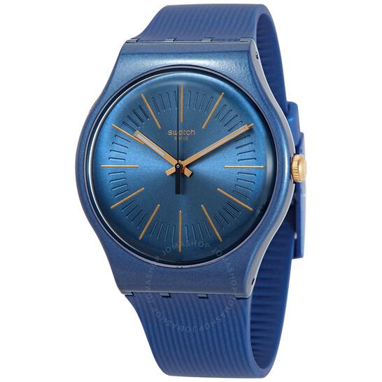 Swatch CYDERALBLUE Quartz Blue Dial Unisex Watch SUON143 | Joma Shop
