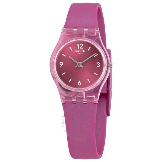 Swatch Fairy Cherry Quartz Pink Dial Ladies Watch LP158   Joma Shop