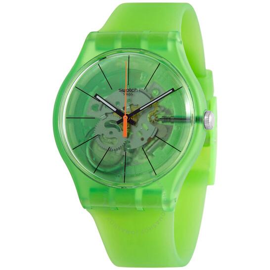 Swatch Kiwi Vibes Quartz Green Transparent Dial Men's Watch SUOG118 | Joma Shop
