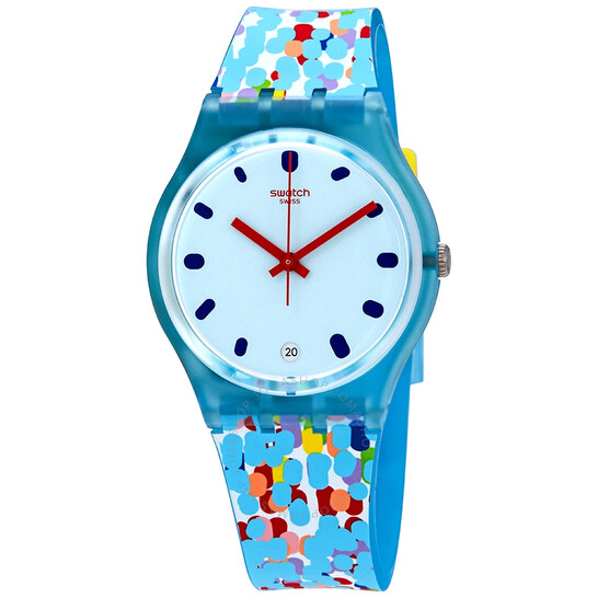 Swatch Prikket Blue Dial Blue Silicone Ladies Watch GS401 | Joma Shop