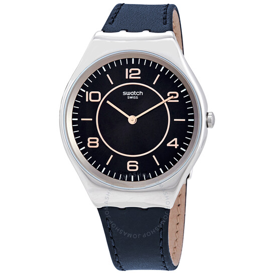 Swatch Skincounter Black Dial Blue Leather Watch SYXS110 | Joma Shop