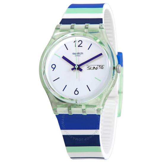 Swatch Sky Zebra Quartz White Dial Watch GG711 | Joma Shop