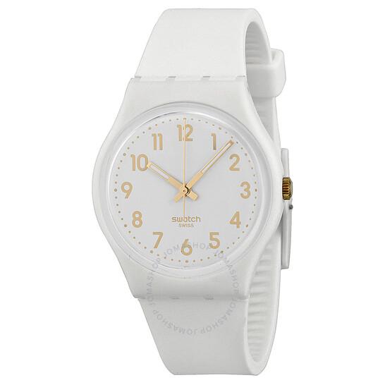 Swatch White Bishop White Dial Unisex Watch GW164 | Joma Shop