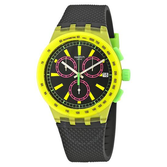 Swatch Yel-Lol Chronograph Black Dial Men's Watch SUSJ402 | Joma Shop