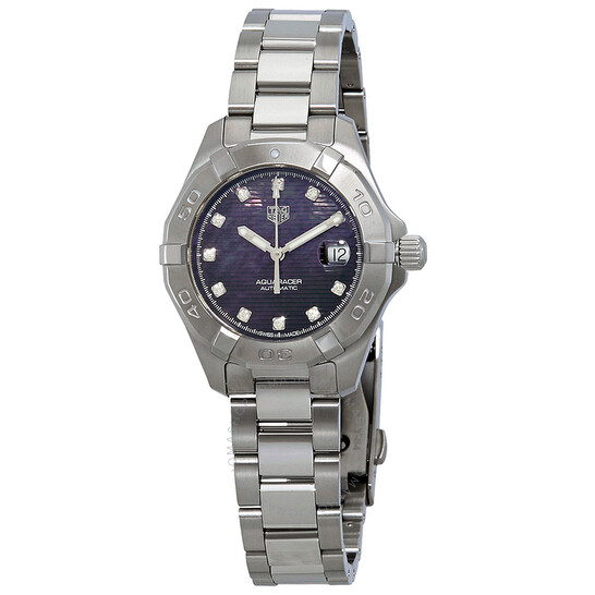 Tag Heuer Aquaracer Automatic Black Mother of Pearl Diamond Dial Ladies Watch WBD2312.BA0740 | Joma Shop