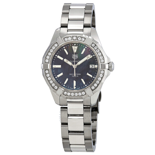 Tag Heuer Aquaracer Black Mother of Pearl Dial Ladies Watch WAY131P.BA0748   Joma Shop