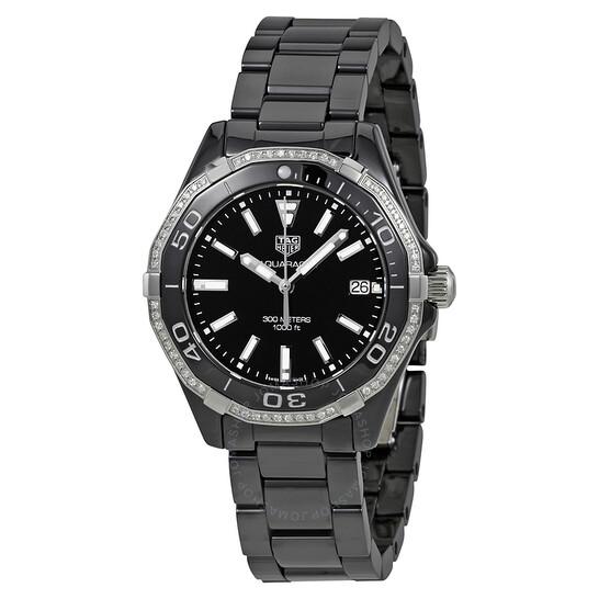 Tag Heuer Aquaracer Black Dial Ladies Watch WAY1395.BH0716   Joma Shop