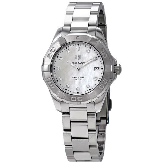 Tag Heuer Aquaracer Mother of Pearl Diamond Dial Ladies Watch WBD131B.BA0748 | Joma Shop