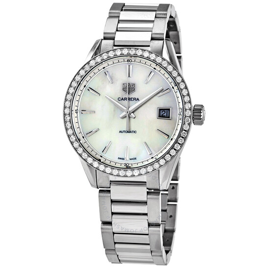 Tag Heuer Carrera Automatic Diamond White Mother of Pearl Dial Ladies Watch WBK2316.BA0652 | Joma Shop