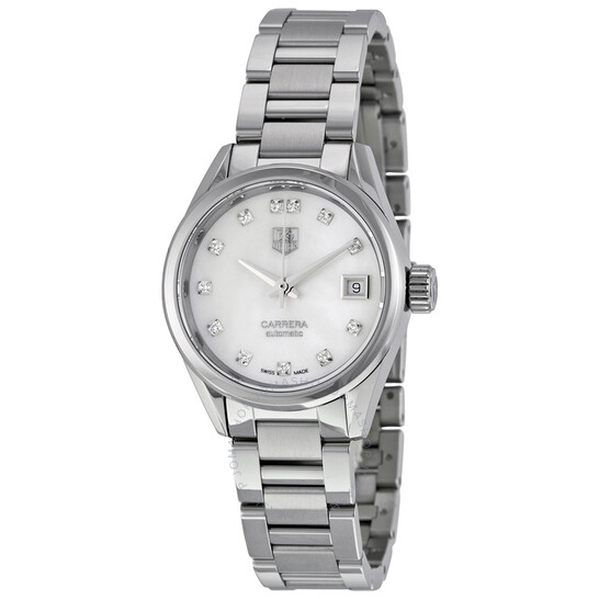 Tag Heuer Carrera Automatic White Dial Ladies Watch WAR2414.BA0776 | Joma Shop