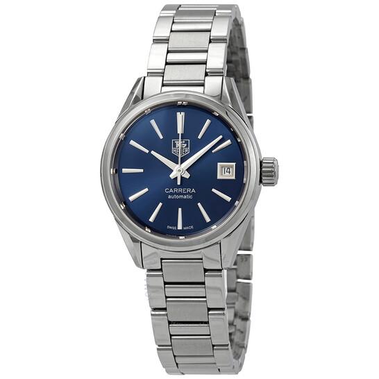 Tag Heuer Carrera Calibre 9 Automatic Blue Dial Ladies Watch WAR2419.BA0776 | Joma Shop