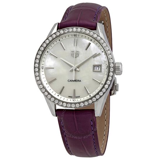 Tag Heuer Carrera Quartz Diamond White Mother of Pearl Dial Ladies Watch WBK1316.FC8261   Joma Shop