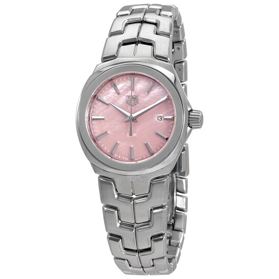 Tag Heuer Link Pink Mother of Pearl Dial Ladies Watch WBC1317.BA0600 | Joma Shop