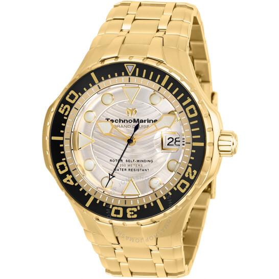 Technomarine Grand Cruise Automatic Gold Dial Men's Watch TM-118077 | Joma Shop
