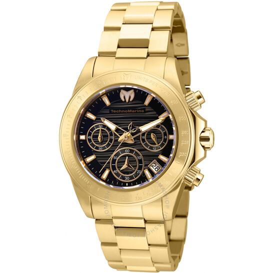 Technomarine Manta Chronograph Quartz Black Dial Ladies Watch TM-219014   Joma Shop