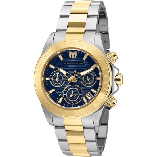 Technomarine Manta Chronograph Quartz Blue Dial Ladies Watch TM-219012 | Joma Shop