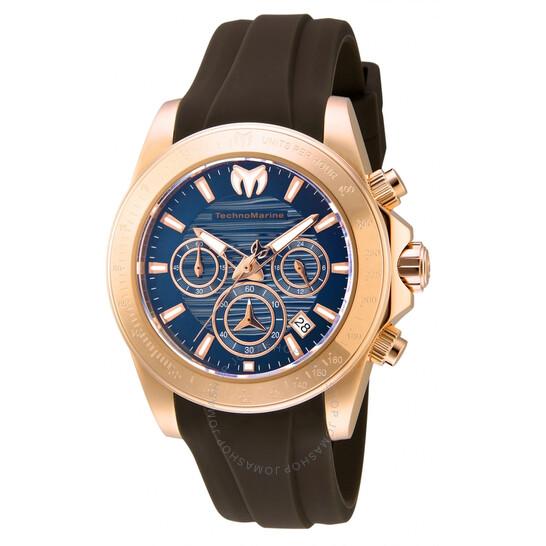 Technomarine Manta Chronograph Quartz Blue Dial Ladies Watch TM-219039 | Joma Shop