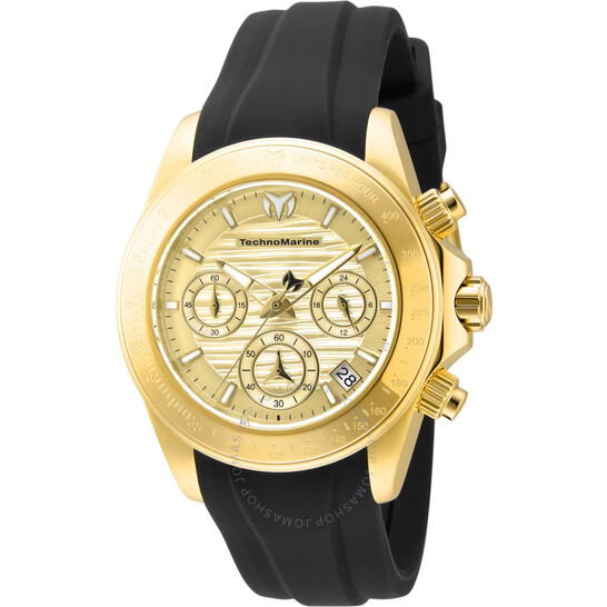 Technomarine Manta Chronograph Quartz Gold Dial Ladies Watch TM-219041 | Joma Shop