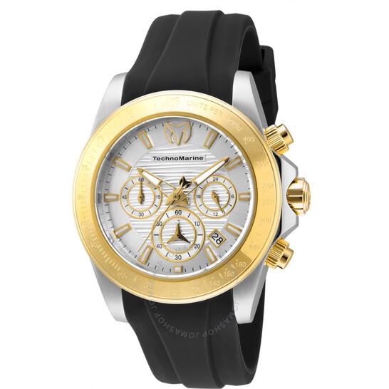 Technomarine Manta Chronograph Quartz Silver Dial Men's Watch TM-219033 | Joma Shop