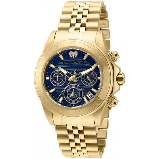 Technomarine Manta Ray Chronograph Quartz Blue Dial Ladies Watch TM-219031   Joma Shop