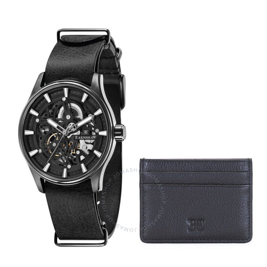 Thomas Earnshaw Beagle Skeleton Automatic Woolwich edition Black Dial Men's Watch ES-8076-SETE-02   Joma Shop