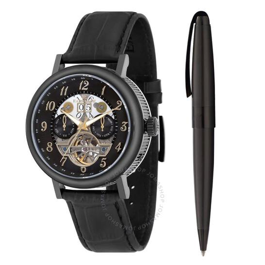 Thomas Earnshaw Beaufort Automatic Black Dial Men's Watch ES-8083-SETA-03 | Joma Shop