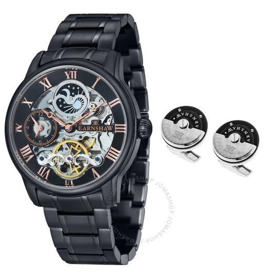 Thomas Earnshaw Longitude Automatic Black Dial Men's Watch ES-8006-SETB-04 | Joma Shop