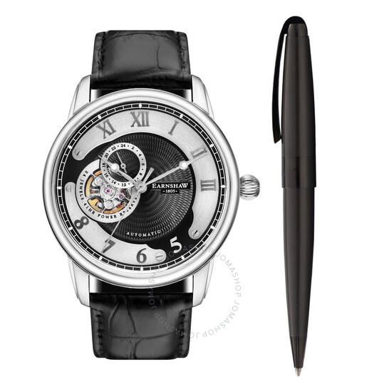 Thomas Earnshaw Longitude Automatic Black Dial Men's Watch and Pen ES-8803-SETA-01   Joma Shop