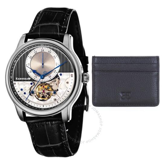 Thomas Earnshaw Longitude Regulator Open Heart Automatic Grey Dial Men's Watch ES-8085-SETA-01 | Joma Shop