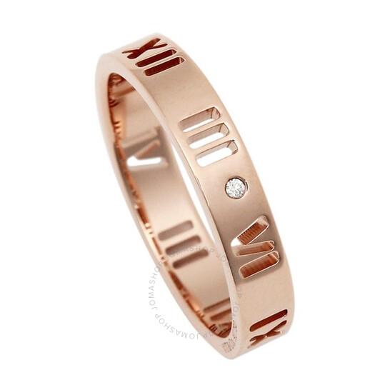 Tiffany & Co. Ladies Atlas 18k Rose Gold Pierced Ring, Size 9 | Joma Shop