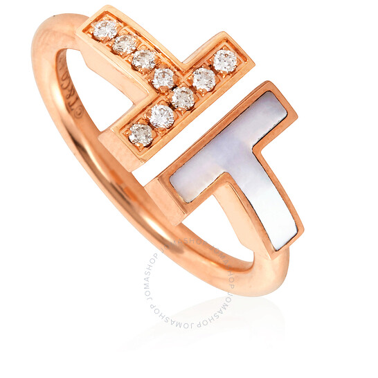 Tiffany & Co. T Diamond and Mother-of-pearl Wire Ring- Size- 4 1/2 | Joma Shop