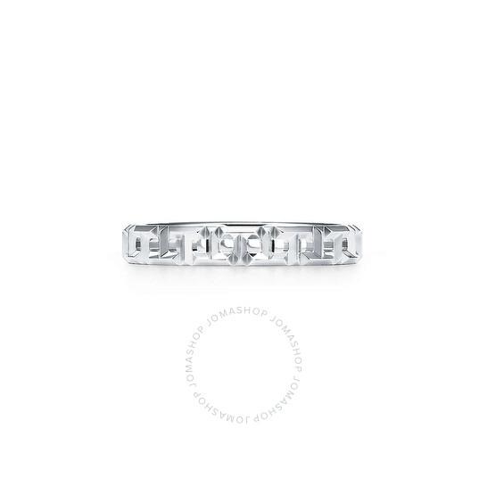 Tiffany & Co. T True Narrow Ring In 18k White Gold, Size 6   Joma Shop