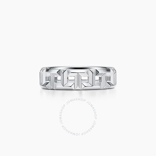 Tiffany & Co. True Wide Ring 18k White Gold Ring, Size 9 | Joma Shop