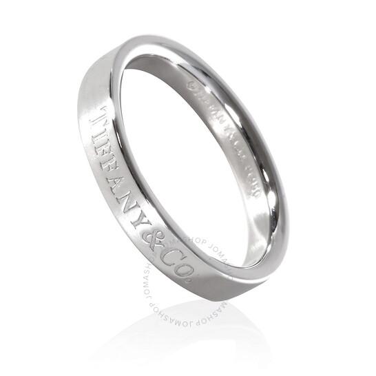 Tiffany & Co. Unisex Tiffany & Co Platinum Band Ring, Brand Size 10   Joma Shop